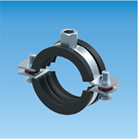 Two Screws Pipe Clamp W/ Lining - Traditional Type - 250 - Eurofix