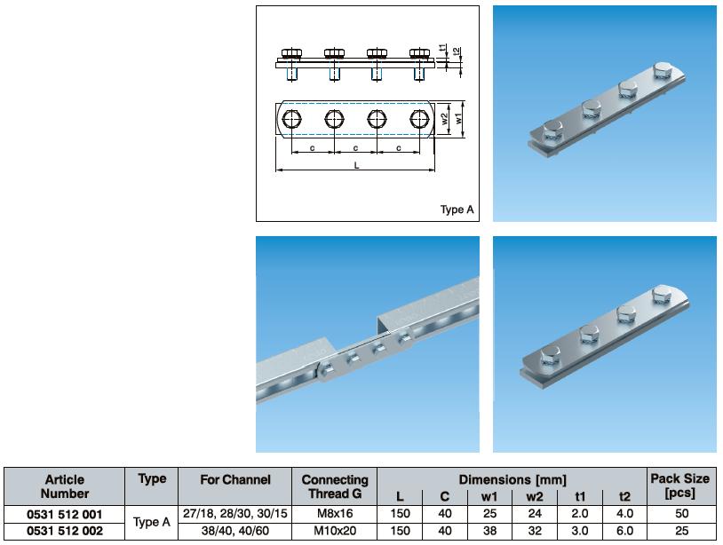 Channel Connector For C Channel - Eurofix